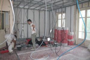 rénovation d'une pièce à vivre dans un appartement refait à neuf