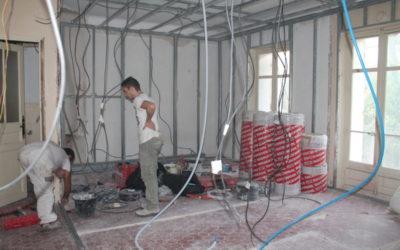 Rénovation et pose de l'installation électrique