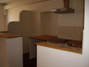 cuisine ouverte avec comptoir