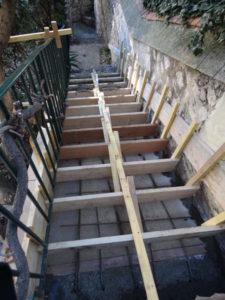 reconstruction escalier exterieur maison de ville marseille