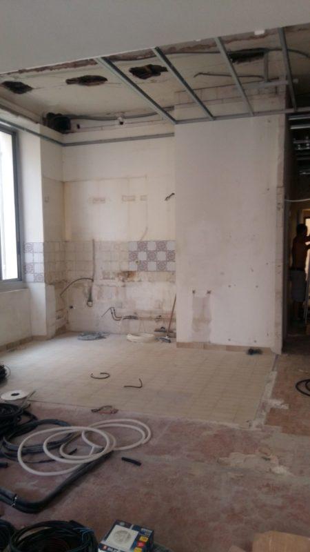 ouverture d'une cuisine fermee dans un appartement ancien