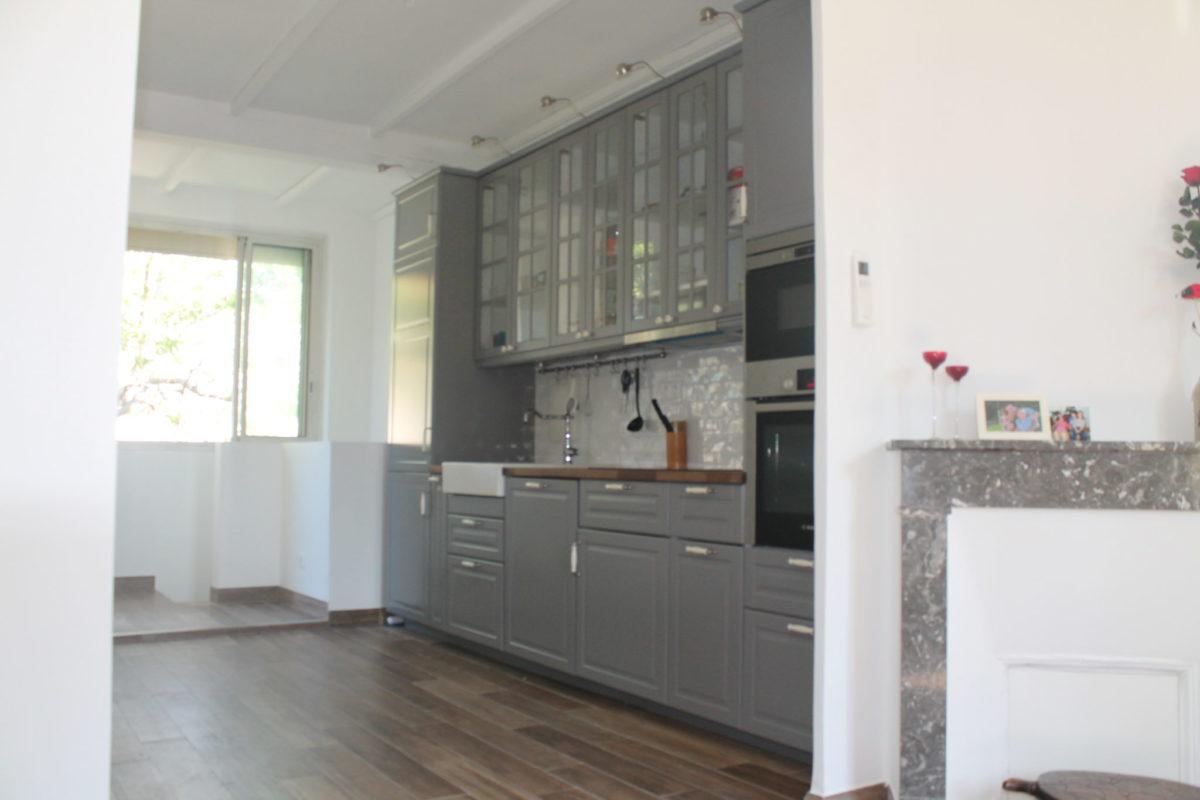 rénovation intégrale de la cuisine d'une maison de ville dans le 9eme arrondissement de Marseille