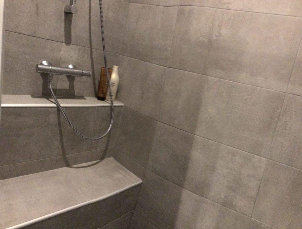 Avant : douche