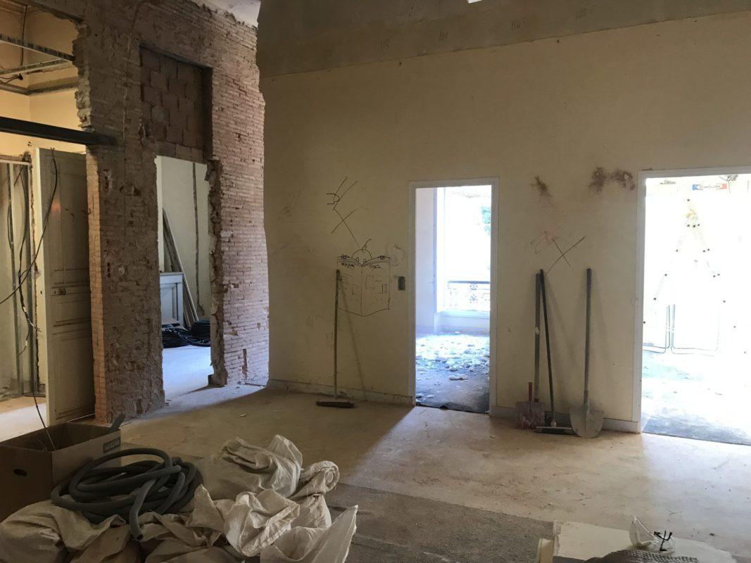 bureaux rue sylvabelle en cours de renovation interieure