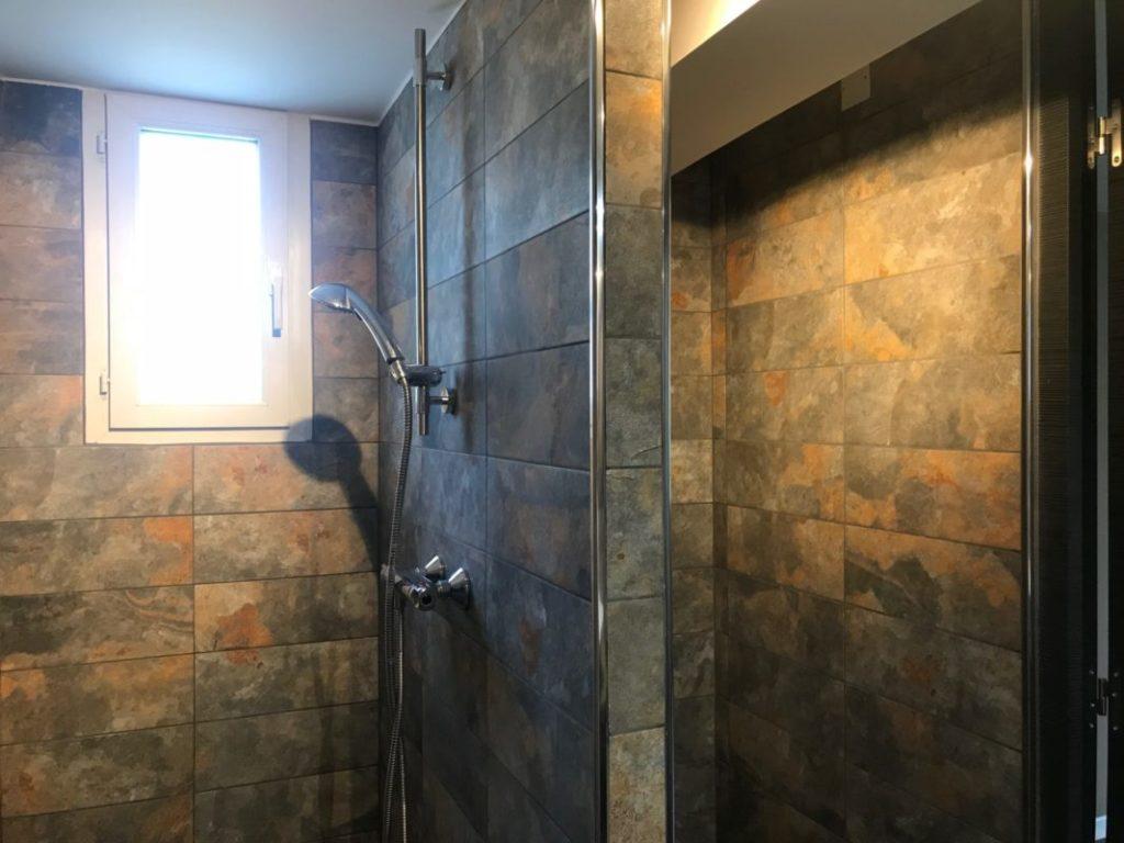 creation douche a l'italienne et aménagement de la nouvelle salle de douche