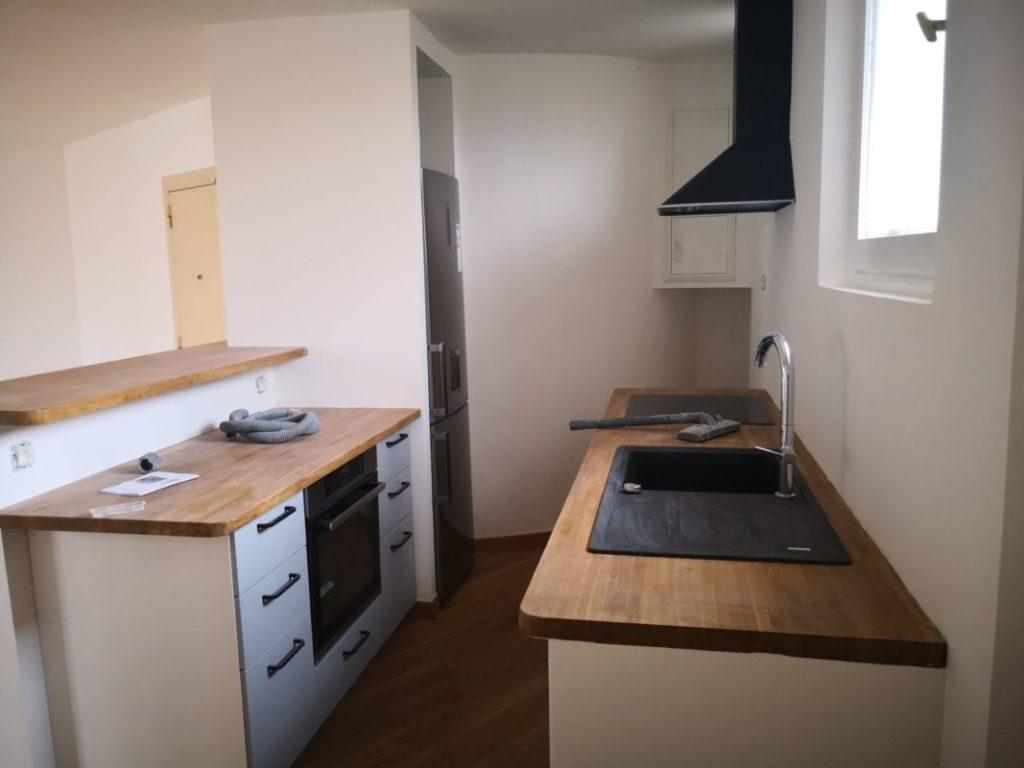 cuisine ouvert renovation appartement cours julien 13006