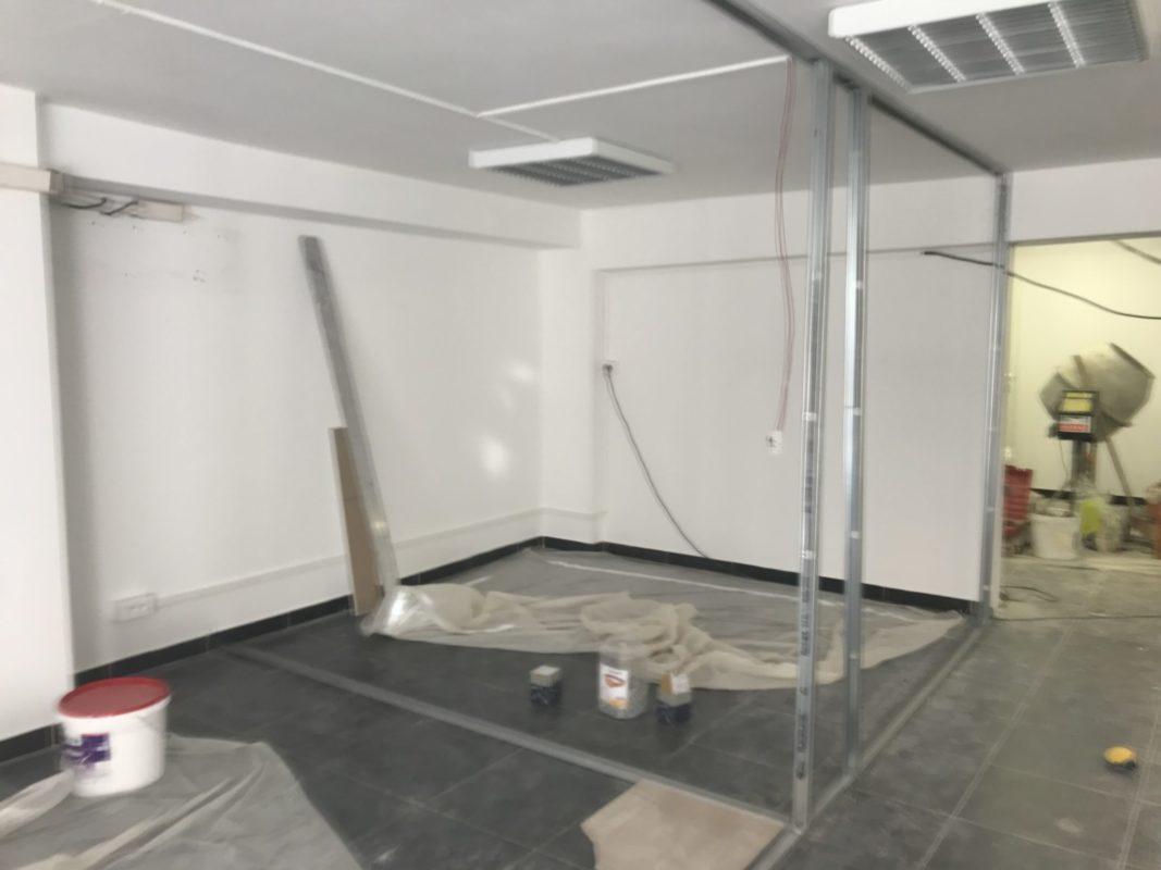 Avant : Création des espaces box dans le cabinet