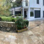 muret exterieur maison après rénovation
