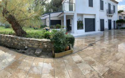 Rénovation d'un muret dans le jardin d'une maison 13008