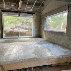 salle à manger avant rénovation de la maison